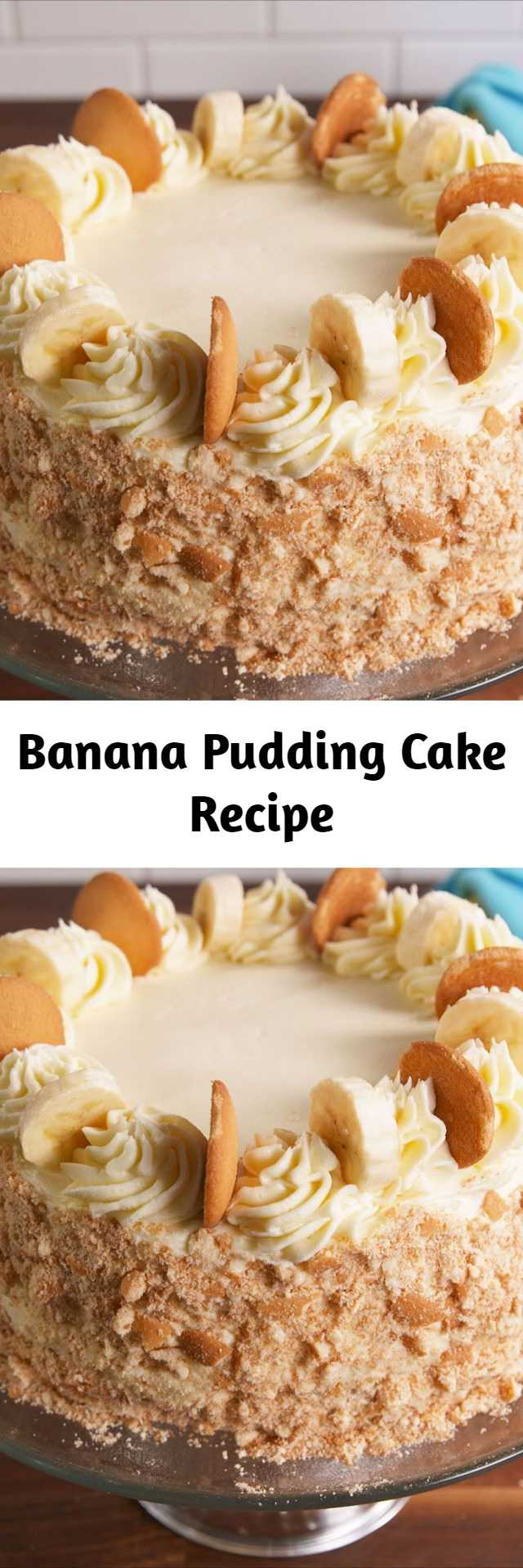 Banana Pudding Cake Recipe - Though it will be hard, try to resist adding a ton of pudding in between the layers. Otherwise, things will get pretty messy. If that means there's extra pudding left over, so be it. We know you'll find some use for it.