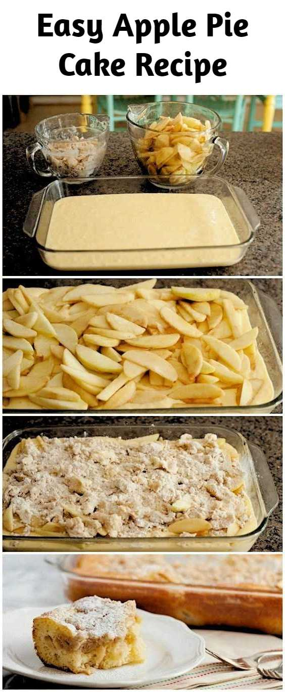 Easy Apple Pie Cake Recipe - Craving some cake, but still hungry for pie? This fruity dessert combines the best of both worlds, with apple-pie goodness blended into a moist sheet cake.