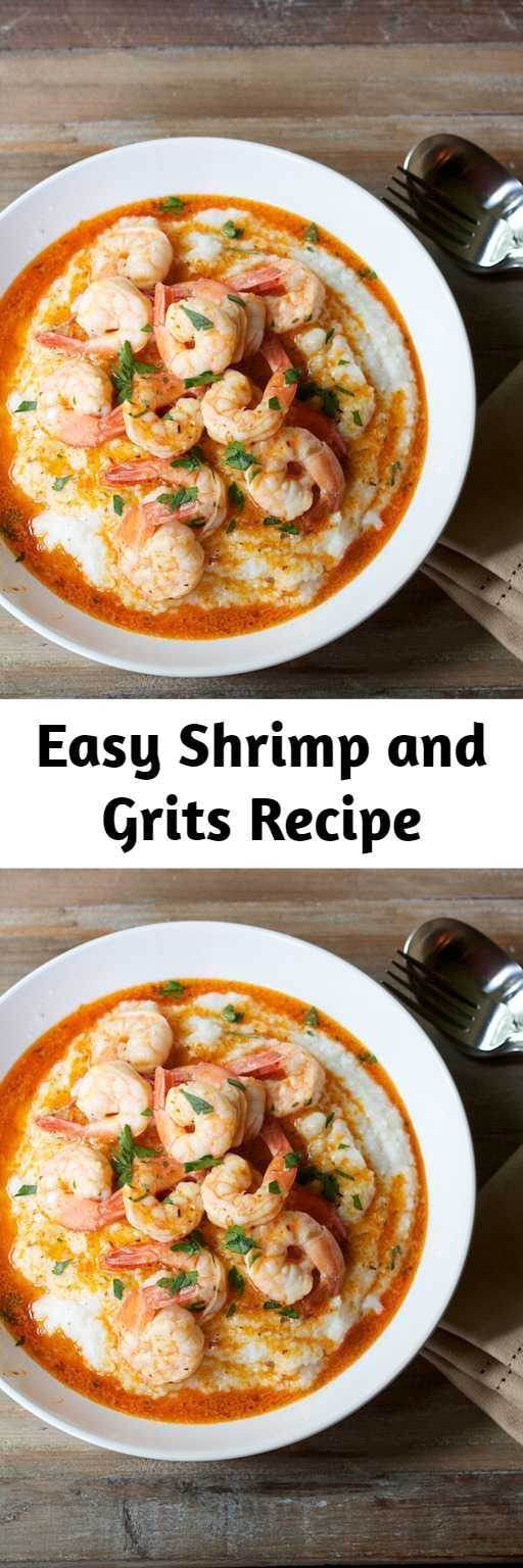 Easy Shrimp and Grits Recipe - Shrimp and Grits are super easy to make and can turn any occasion into a delicious and classic Southern comfort food meal.