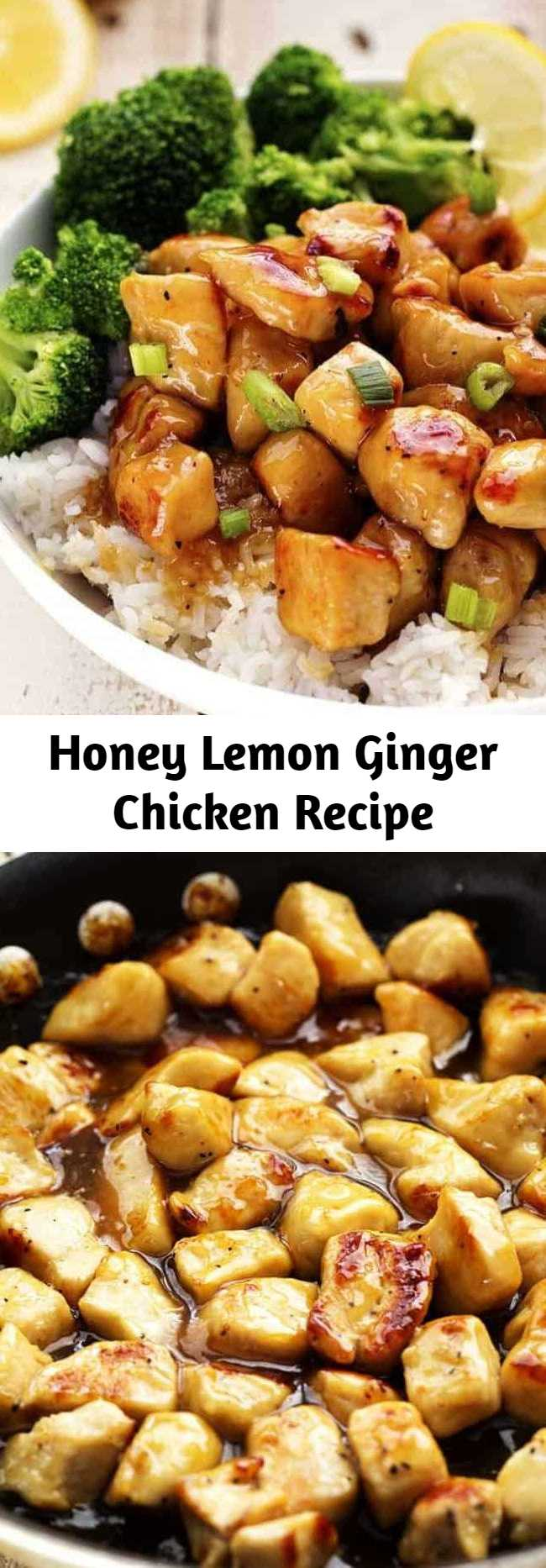 Honey Lemon Ginger Chicken Recipe - A light and delicious meal that is full of amazing honey lemon ginger flavor that the family will love!
