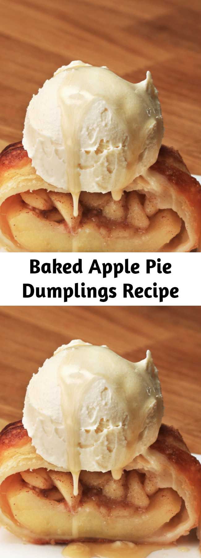 Baked Apple Pie Dumplings Recipe - Snuggle up for Fall with these Apple Pie Dumplings!
