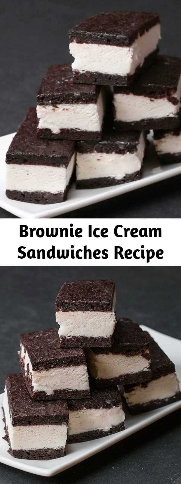 Brownie Ice Cream Sandwiches Recipe - Delicious brownie ice cream sandwiches that can be ready and waiting in the freezer.