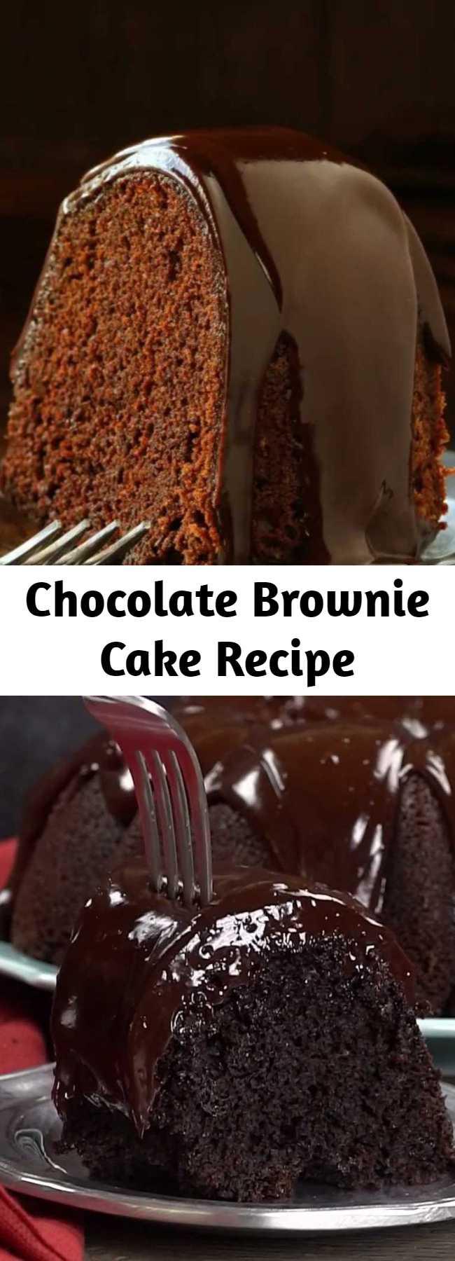 Chocolate Brownie Cake Recipe - Beyond easy but definitely impressive!