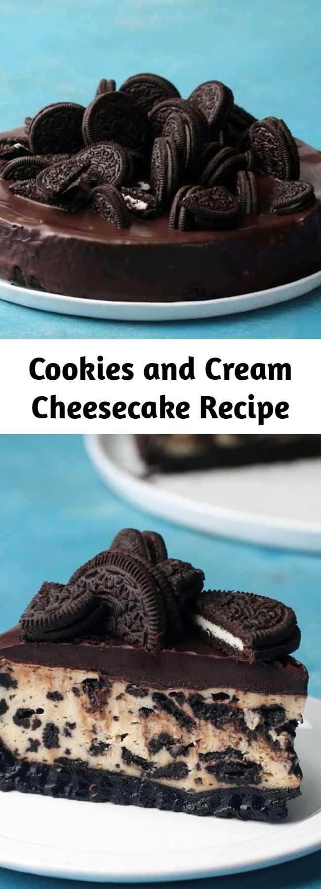 Cookies and Cream Cheesecake Recipe - Cookies and cream make everyone scream!