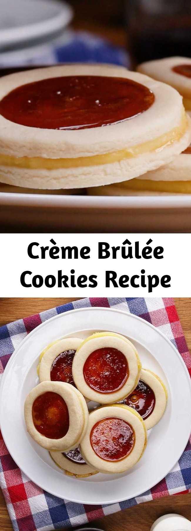 Crème Brûlée Cookies Recipe - Caramelized sugar is our new favorite frosting sub.