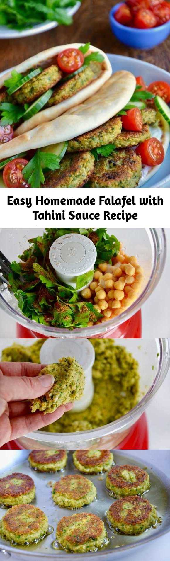 Easy Homemade Falafel with Tahini Sauce Recipe - A restaurant favorite gets a DIY makeover with this top-rated recipe for easy Homemade Falafel with Tahini Sauce.