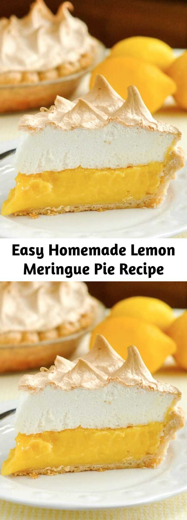 Easy Homemade Lemon Meringue Pie Recipe - If your pie comes from powder in a box, STOP! A fantastic homemade lemon meringue pie, made completely from scratch, tastes much better and is actually just as easy to prepare.