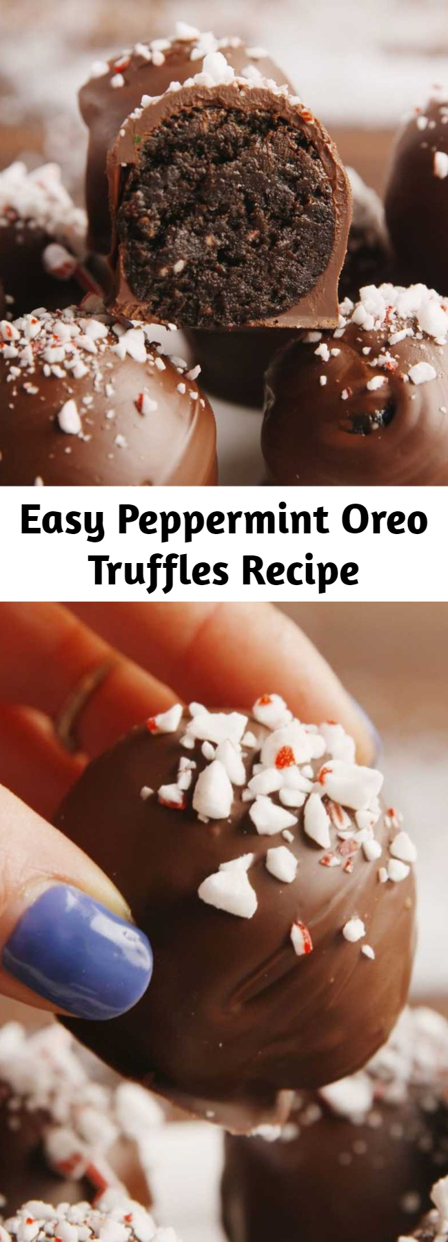 Easy Peppermint Oreo Truffles Recipe - How could something so simple be so good? #food #pastryporn #easyrecipe #recipe #holiday #christmas #ideas #wishlist #inspiration #home