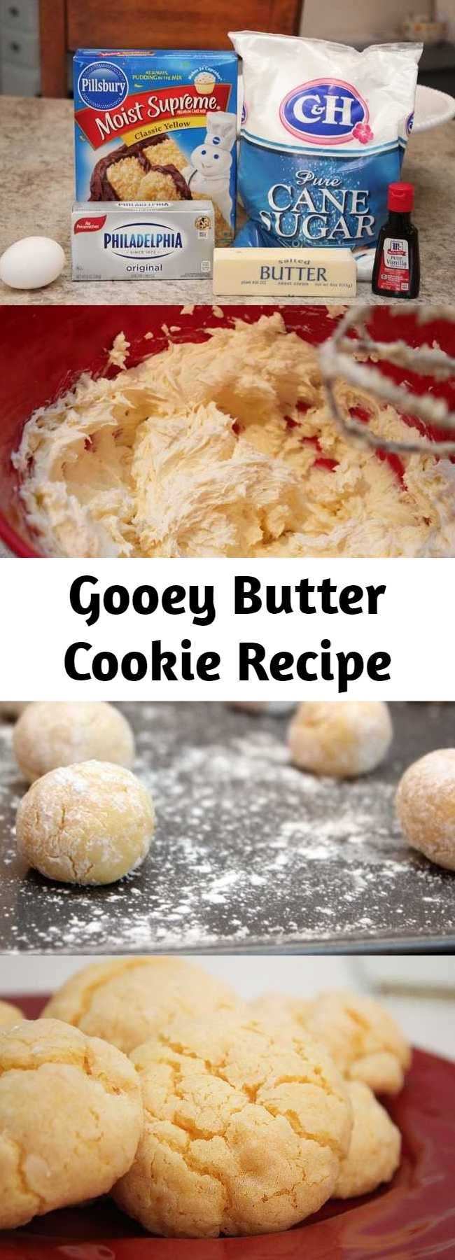 Gooey Butter Cookie Recipe - Gooey Butter Cookie's are absolutely delicious!  These cookies stay super light and fluffy and have a sweet vanilla taste.