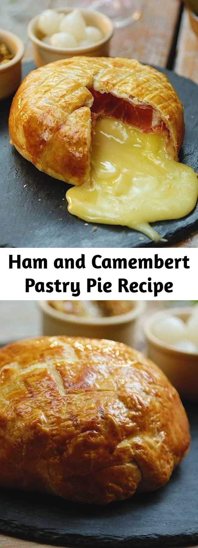 Ham and Camembert Pastry Pie Recipe - This ham and pastry pie is the perfect cheesy dish for any cheese lover!