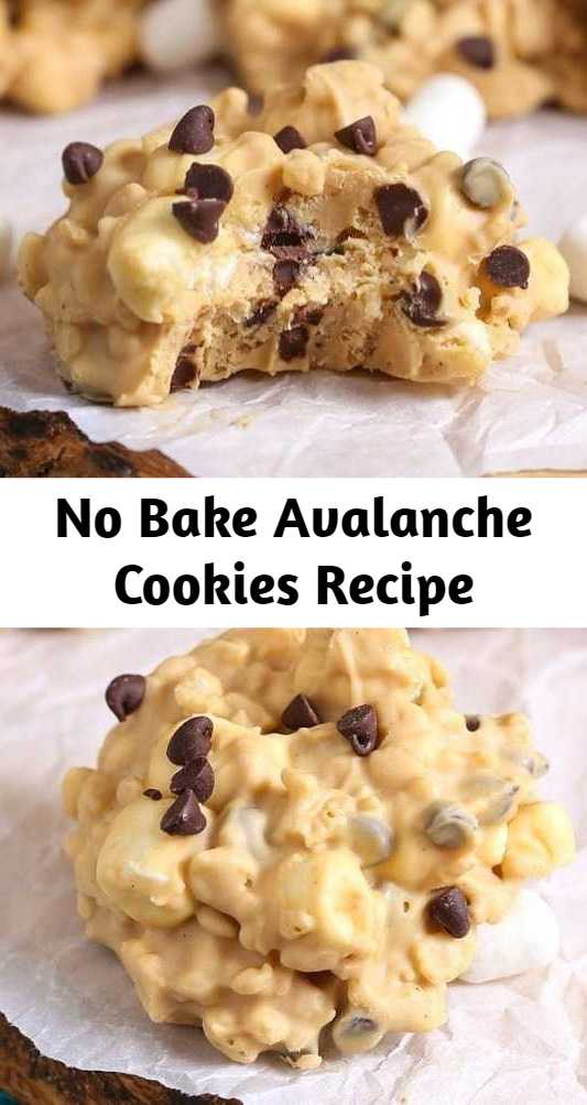 No Bake Avalanche Cookies Recipe - No-Bake Avalanche Cookies are a simple make-at-home copycat recipe with just 5 ingredients. It's the ultimate treat. A creamy, fudgy, crunchy, peanut buttery treat that has the right touch of chocolate and is perfectly sweet! #nobake #copycatrecipes