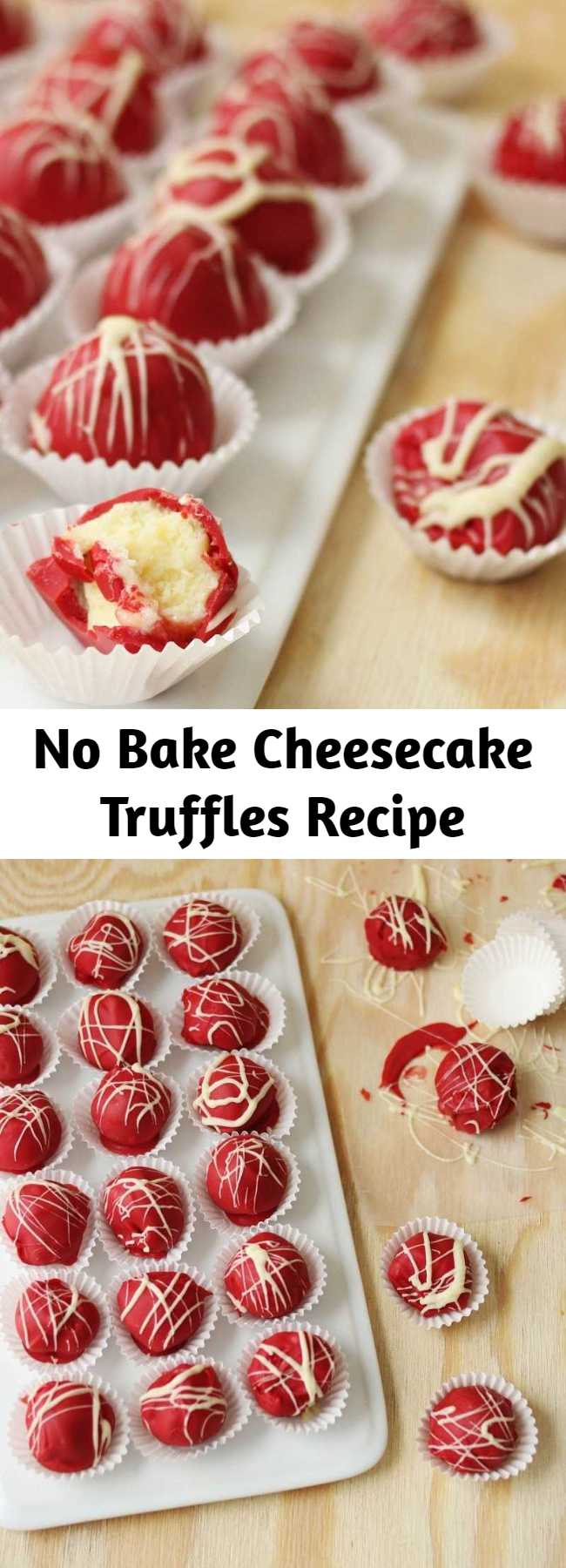 """No Bake Cheesecake Truffles Recipe - These cheesecake truffles are a little bit magic. There's no baking involved. Actually, there's really no """"cooking"""" to speak of. This isn't really even a recipe, more assembly instructions. And the lesson I draw from this is that sometimes magic = convenience."""