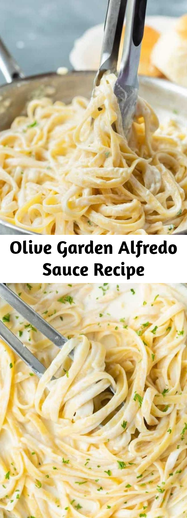 Olive Garden Alfredo Sauce Recipe - Make Olive Garden's Alfredo Sauce Recipe at home in just 20 minutes! Pair it with Fettuccine for an easy dinner idea the whole family will love! #alfredo #olivegarden #fettuccine #pasta #italian #dinner