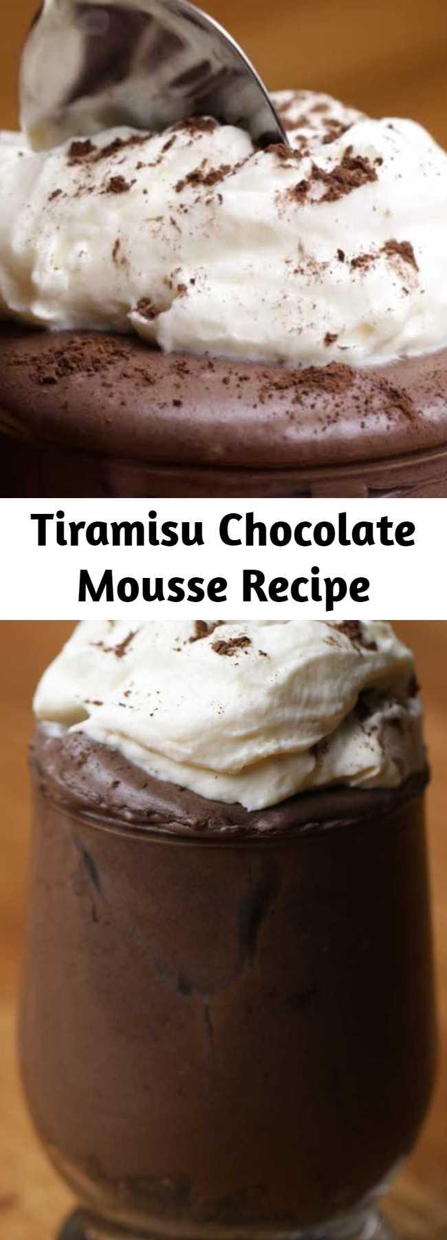 Tiramisu Chocolate Mousse Recipe - Savor your inner sweet tooth with this dreamy dessert.
