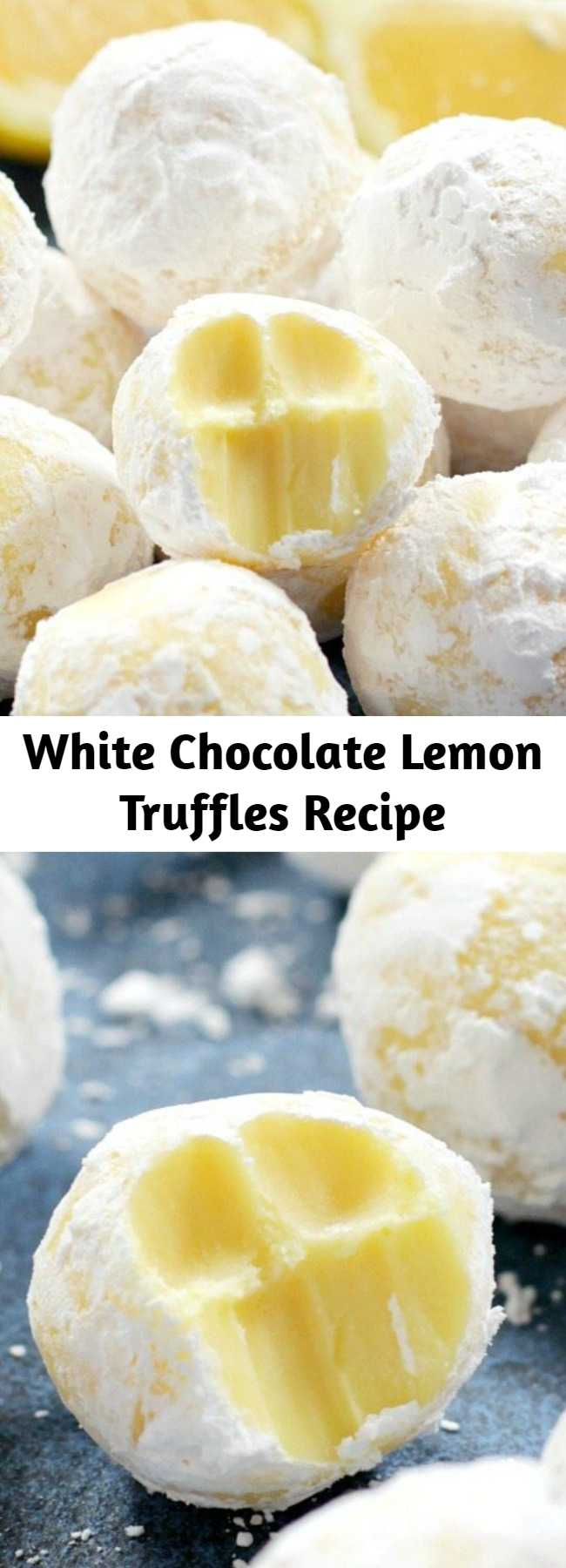 White Chocolate Lemon Truffles Recipe - These creamy White Chocolate Lemon Truffles will become a new holiday favorite! Perfect for gift giving or including on a cookie tray.