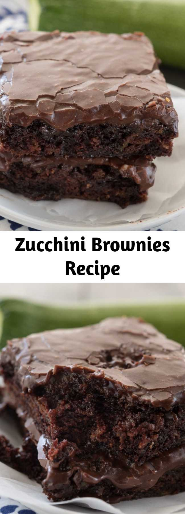 Zucchini Brownies Recipe - Zucchini brownies are a healthier recipe for brownies, and these are the BEST zucchini brownies ever! They're ooey, gooey, and SUPER fudgy brownies. And NO one will know they have zucchini inside!