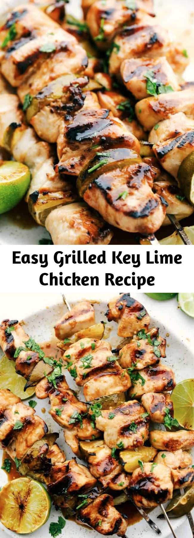 Easy Grilled Key Lime Chicken Recipe - If you're using bamboo skewers, soak your sticks in water for at least 5 minutes. Cut chicken into large chunks, and skewer. Allow to marinate for at least 1 hour. I am pretty sure your family will love this key lime chicken too!