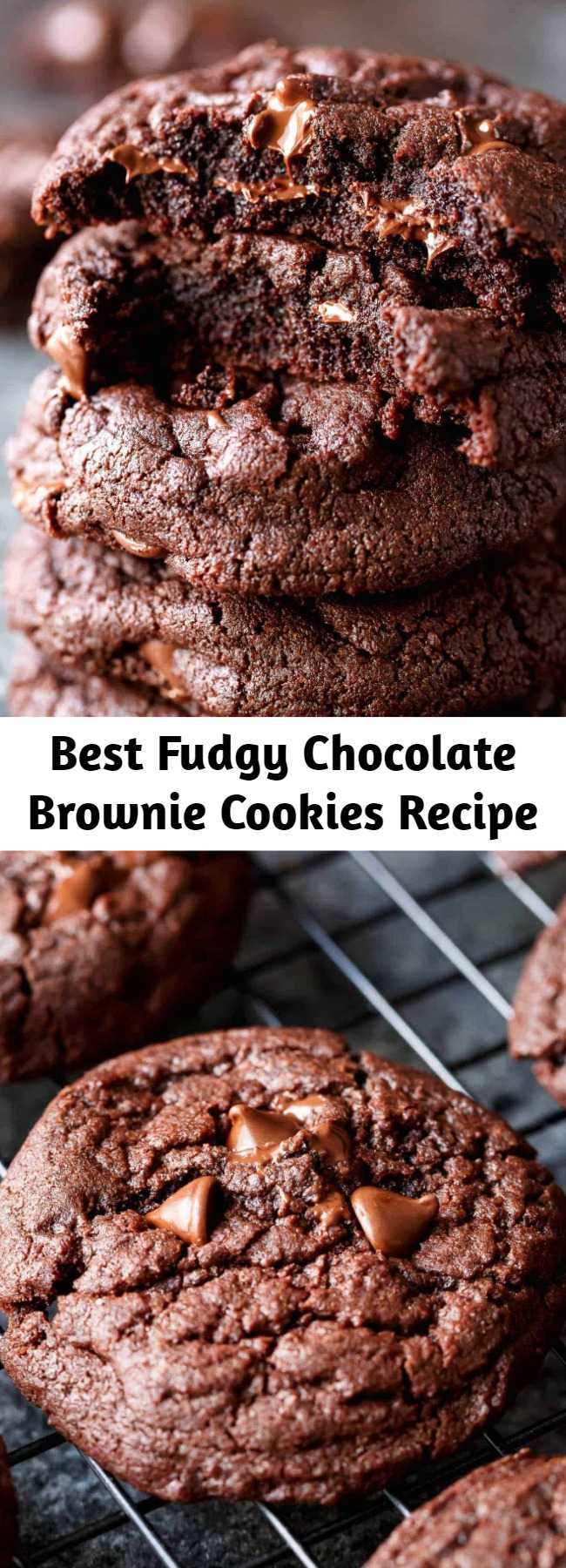 Best Fudgy Chocolate Brownie Cookies Recipe - Best Fudgy Chocolate Brownie Cookies are a one bowl wonder ready in minutes, and named better than a brownie cookie! They disappear in seconds!