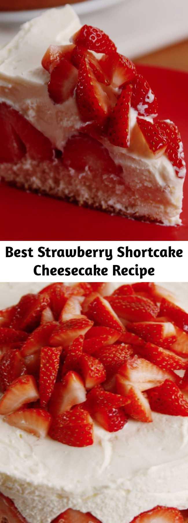 Best Strawberry Shortcake Cheesecake Recipe - Classic cheesecake gets a summery upgrade.
