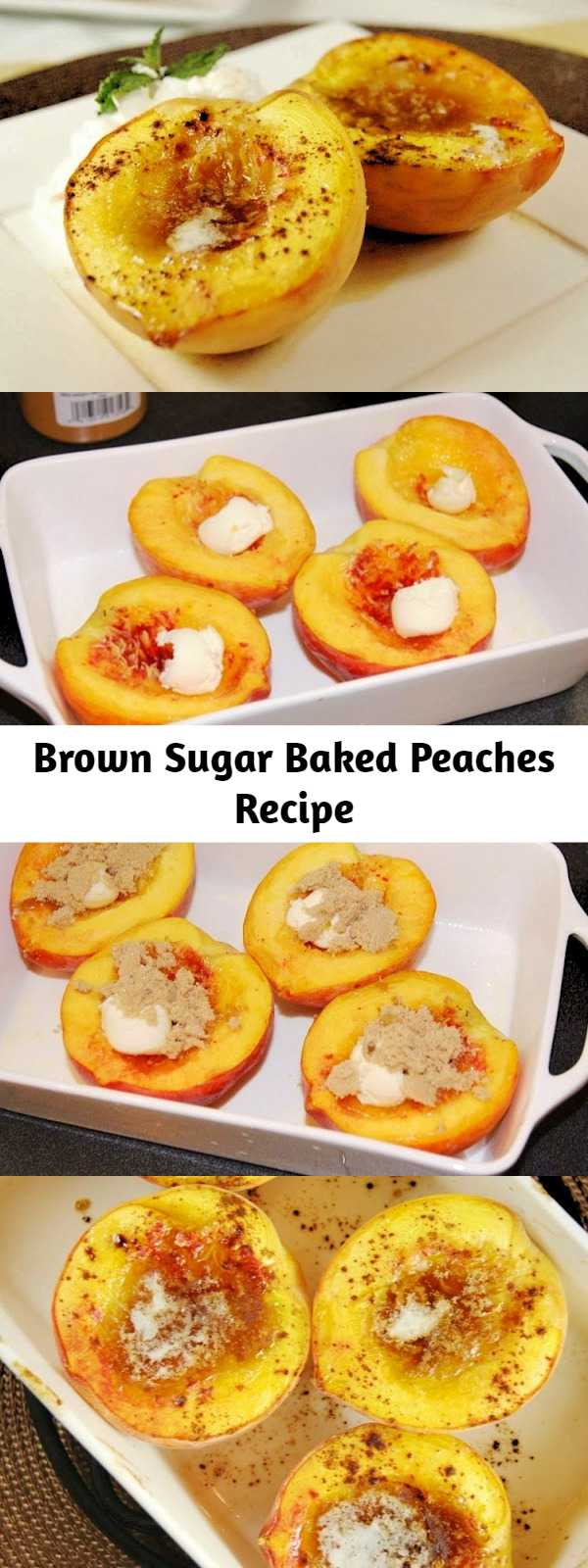 Brown sugar-baked peaches make for a scrumptious ... and low-calorie ... dessert. So good, you certainly won't miss the calories!