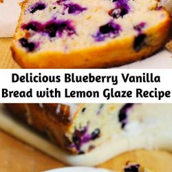 This delicious blueberry lemon bread with lemon glaze is a perfect breakfast, brunch, snack. Simple recipe, beautiful cake, what more can you ask for?! Lemon zest, freshly squeezed lemon juice, blueberries, vanilla - so many Summer flavors!