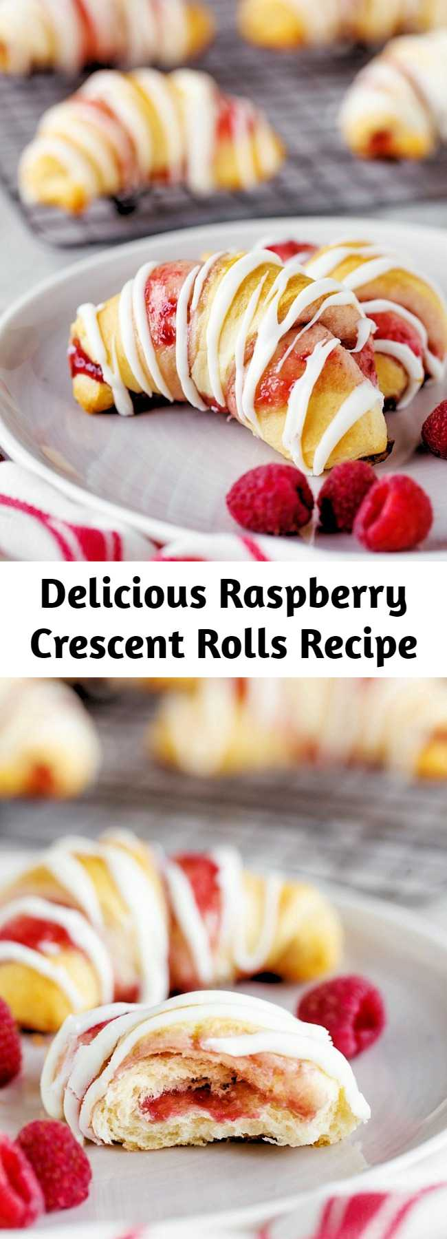 Delicious Raspberry Crescent Rolls Recipe - Raspberry Crescent Rolls: a delicious sweet dessert that is quick to prepare and uses pre-made crescent rolls and delicious raspberry jam. #desserts #sweettreat