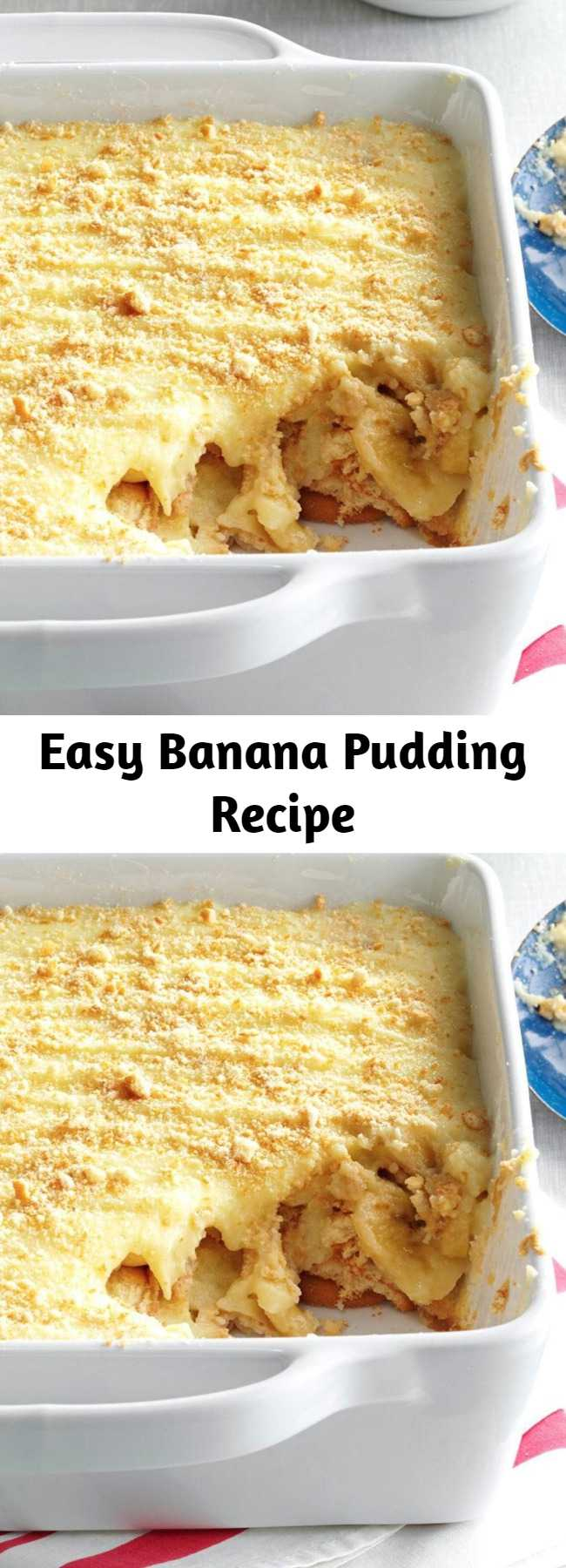 Easy Banana Pudding Recipe - It's a dessert, but you can have it for breakfast, lunch or dinner.