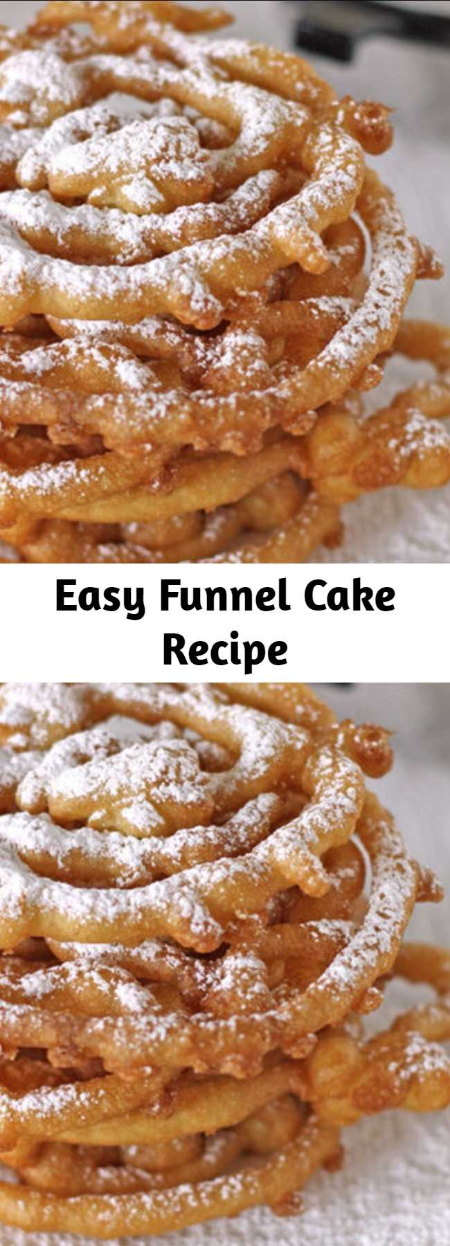 Easy Funnel Cake Recipe - Enjoy the deep-fried funnel cake awesomeness of the state fair all year round with this DIY recipe.