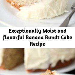 """This really is the Best Ever Banana Bundt Cake Recipe….and the Cream Cheese Frosting……you'll hear angels singing after one bite! A special """"freezer trick"""" locks in the moisture. I like to serve the cake slightly chilled. And it just gets better and more moist each day, so when possible make it at least a day in advance of when you plan to serve it."""