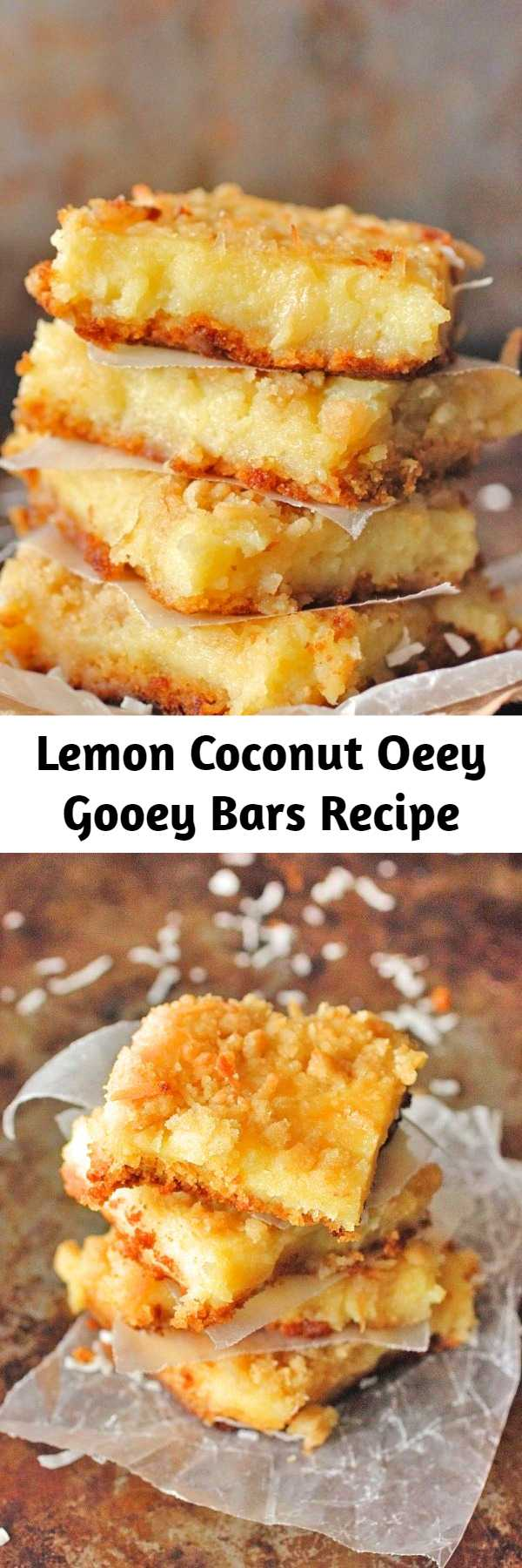 Lemon Coconut Oeey Gooey Bars Recipe