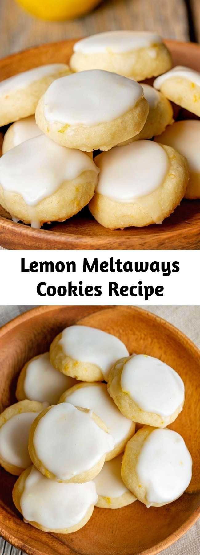 Lemon Meltaways Cookies Recipe - Light and buttery, these bite-sized lemon cookies are a real treat!