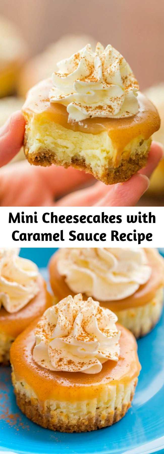 Mini Cheesecakes with Caramel Sauce Recipe