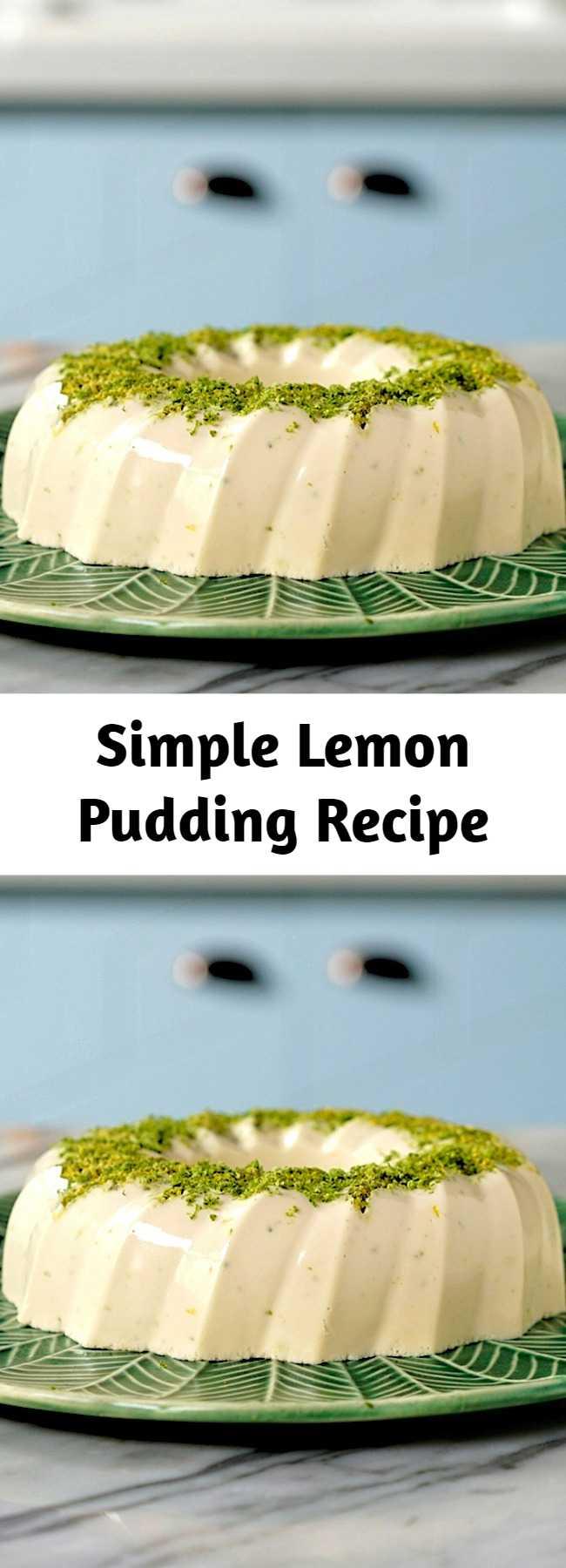 Simple Lemon Pudding Recipe