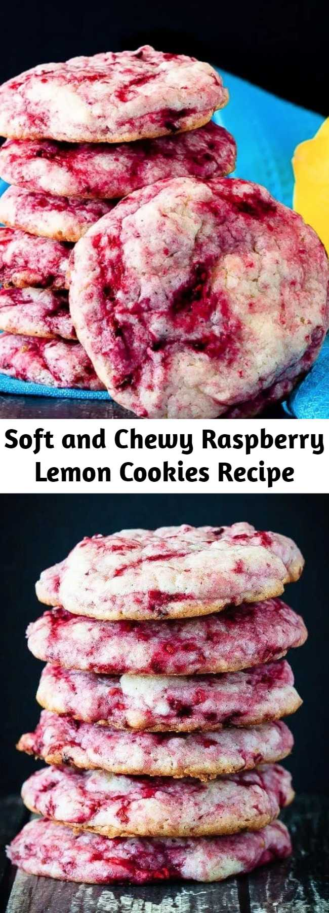 Soft and Chewy Raspberry Lemon Cookies Recipe - These raspberry lemon cookies are ultra soft and chewy - quick and easy to make and so tasty everyone loves them. One of the best cookies I've made!