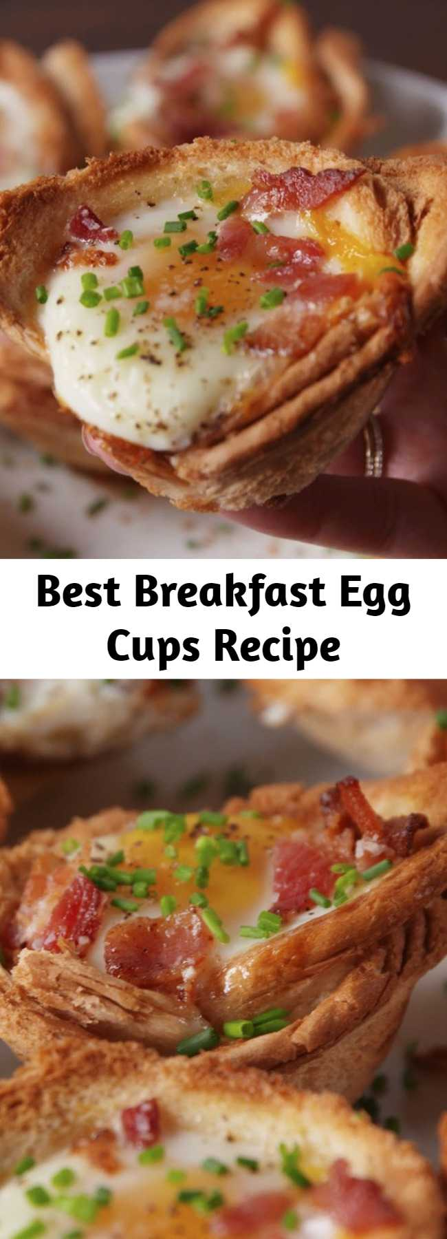 Best Breakfast Egg Cups Recipe - This Breakfast Egg Cups Recipe is the perfect breakfast on-the-go. #food #breakfast #eggs #brunch #easyrecipe