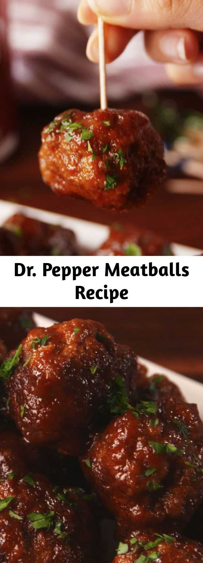 Dr. Pepper Meatballs Recipe - You'll be licking the sauce spoon, it's so good.