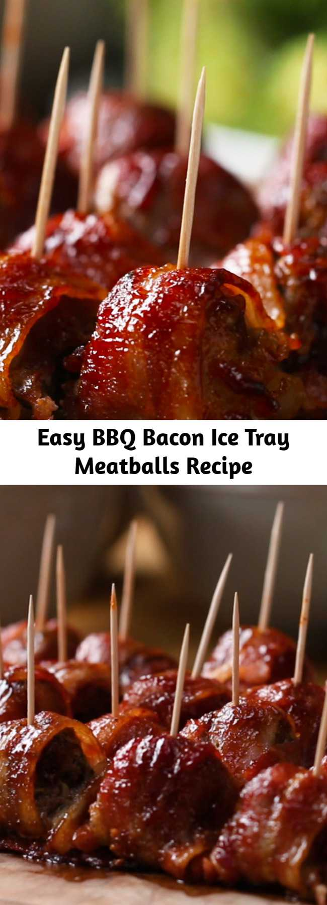 Easy BBQ Bacon Ice Tray Meatballs Recipe - I made these & they were a HUGE hit!! Didn't think they were too much work. Everyone was raving about these & I'm going to make them again very soon! Several people requested the recipe. Easy to put together!
