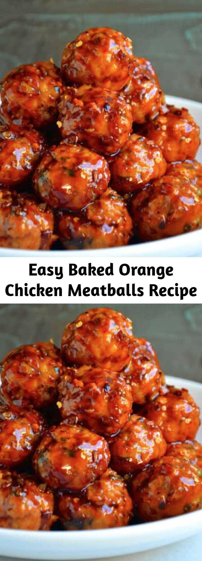Easy Baked Orange Chicken Meatballs Recipe - Best of all, these meatballs will be on your table in 30 minutes or less. They're the perfect make-ahead weeknight meal, a school lunch standout, and the ultimate entrée to pair with homemade fried rice and chocolate-dipped fortune cookies. A fake-out for takeout has never been easier!