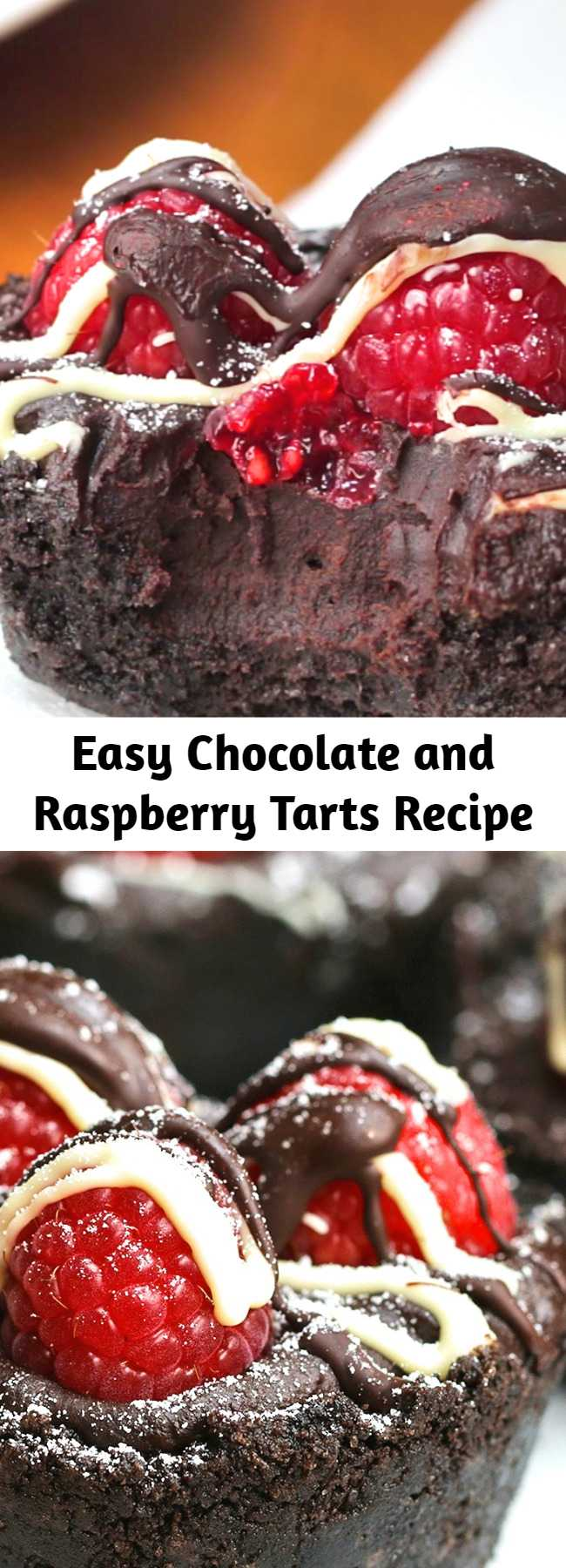 Easy Chocolate and Raspberry Tarts Recipe - This simple, decadent tart will keep overnight in the refrigerator (top with raspberries just before serving). Try it with vanilla ice cream or whipped cream.