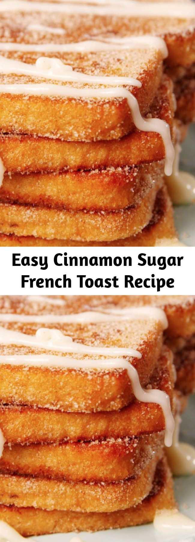 Easy Cinnamon Sugar French Toast Recipe - Churro-fy your breakfast! 😏 #easy #recipe #churro #frenchtoast #breakfast #cinnamon #sugar #brunch