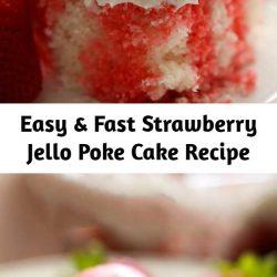 Strawberry Jello Poke Cake Recipe - This recipe is easy, fast, beautiful and SO yummy!