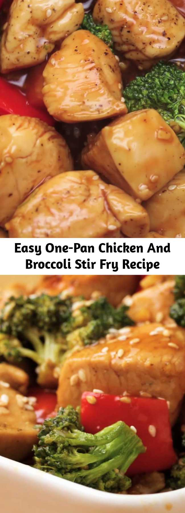 Easy One-Pan Chicken And Broccoli Stir Fry Recipe - This recipe for chicken and broccoli stir fry is a classic dish of chicken sauteed with fresh broccoli florets and coated in a savory sauce. You can have a healthy and easy dinner on the table in 30 minutes!