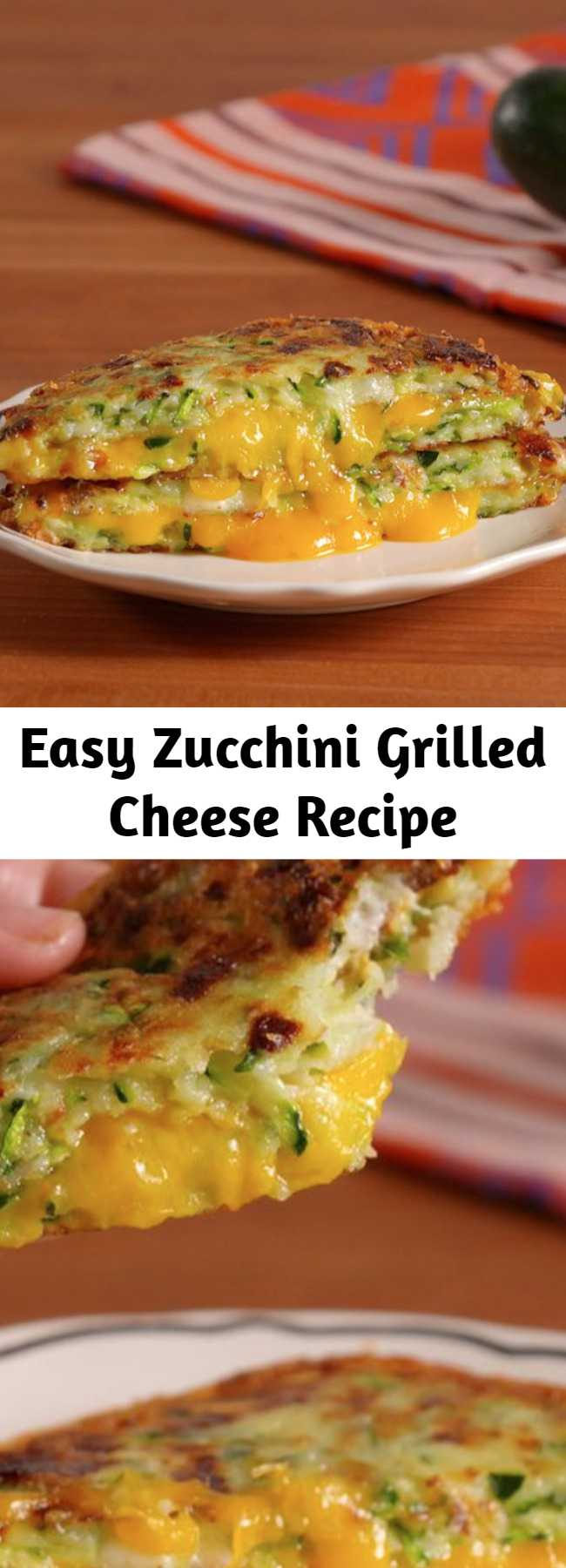 Easy Zucchini Grilled Cheese Recipe - Zucchini is so the new cauliflower. Zucchini Grilled Cheese Is A Low-Carb Dream Come True.