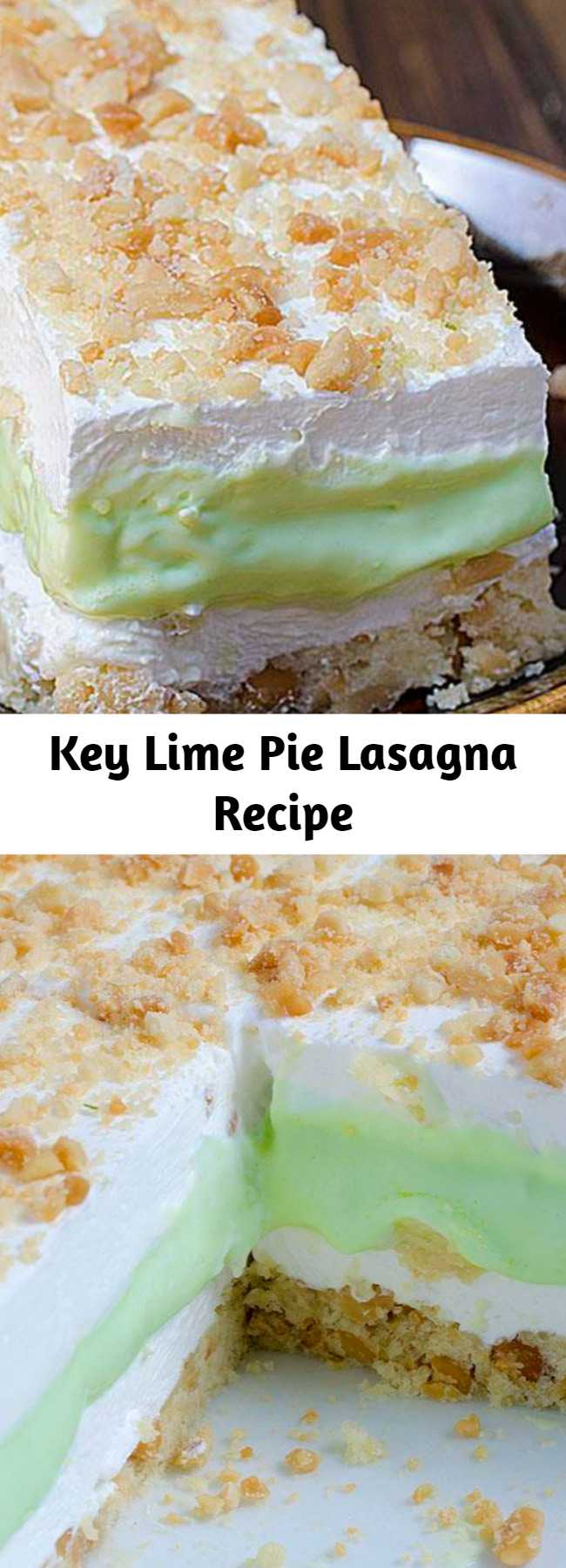 Key Lime Pie Lasagna Recipe - Key Lime Pie Lasagna is cool, light and creamy summer dessert with sweet and tart layers of yumminess.