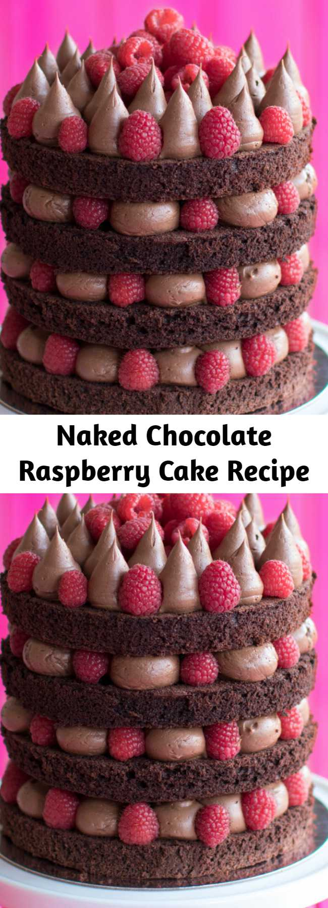 Naked Chocolate Raspberry Cake Recipe - Did somebody say chocolate & raspberries? * removes clothes *