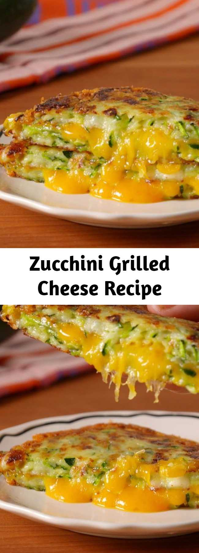 Zucchini Grilled Cheese Recipe - Zucchini is so the new cauliflower. Zucchini Grilled Cheese Is A Low-Carb Dream Come True.