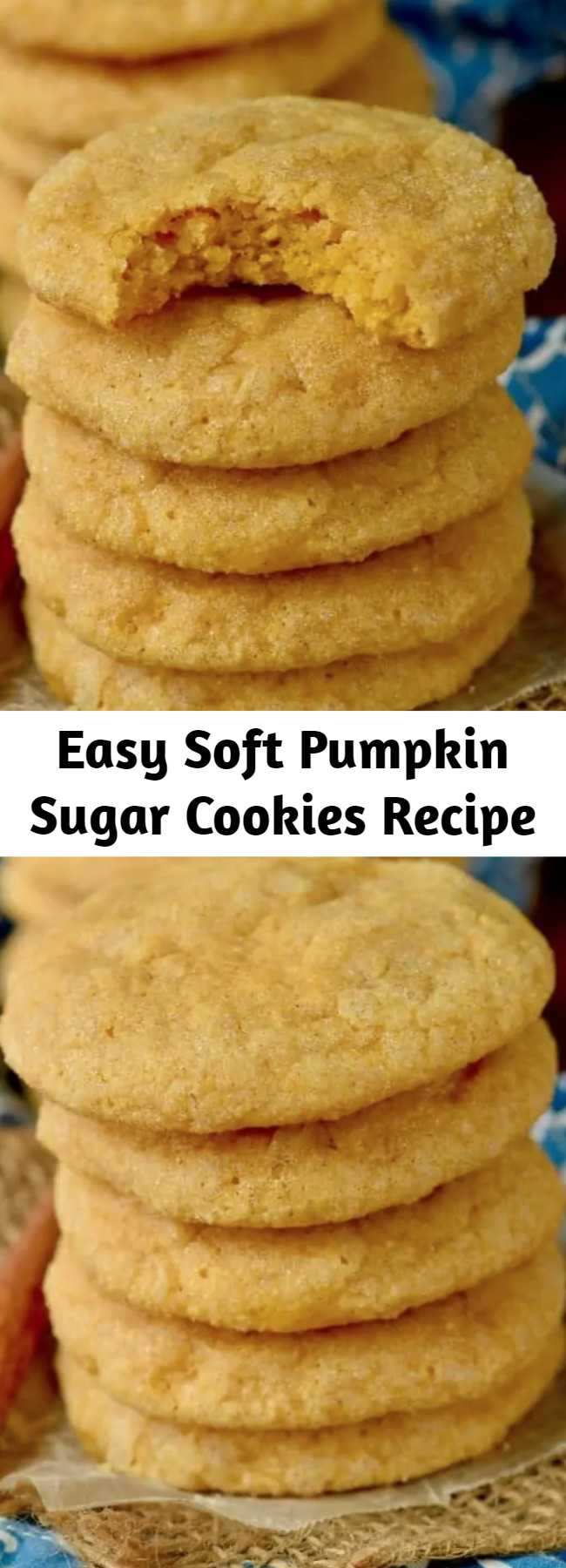 Easy Soft Pumpkin Sugar Cookies Recipe - Pumpkin Sugar Cookies are absolutely amazing! Deliciously soft sugar cookies, full of pumpkin fall flavor! This easy pumpkin cookies recipe is bound to become a family favorite!