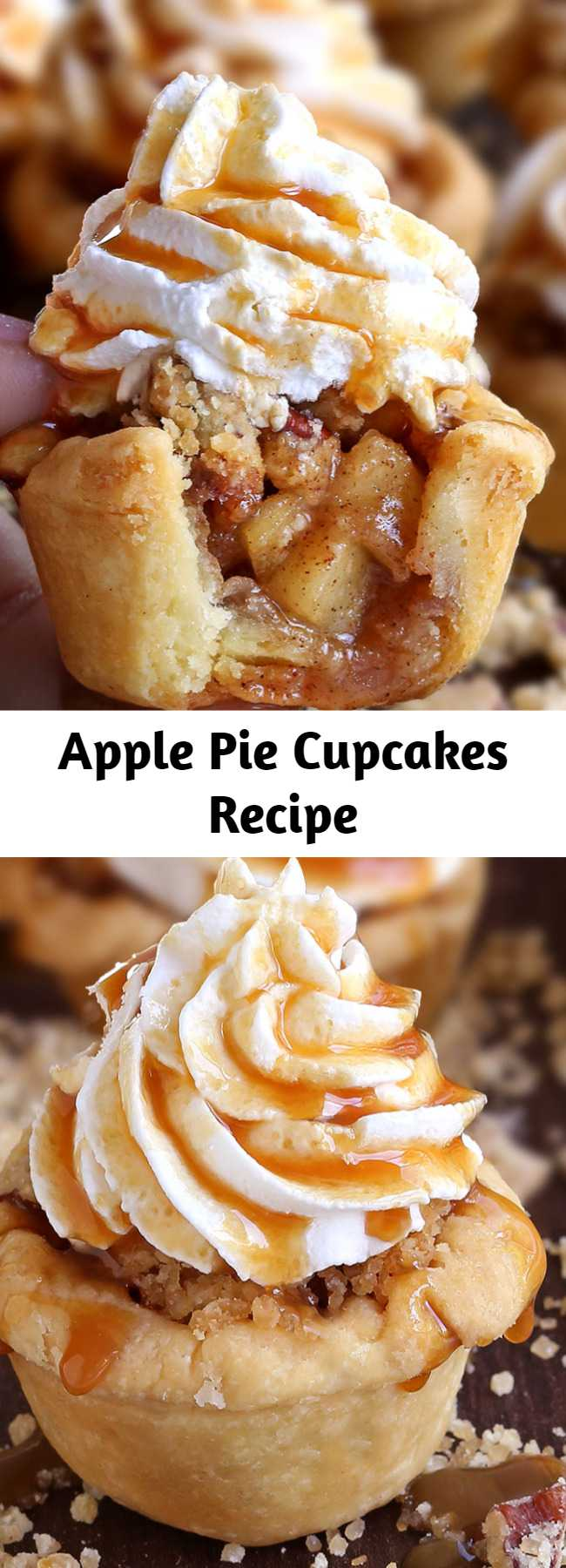 Apple Pie Cupcakes Recipe - When you don't feel like having an apple pie then these Apple Pie Cupcakes are just the best alternative that you can get. With press-in crusts, easy apple pie filling and a simple crumb topping, these cupcake-sized desserts don't require any special rolling, weaving, or fluting skills to create impressive little treats.