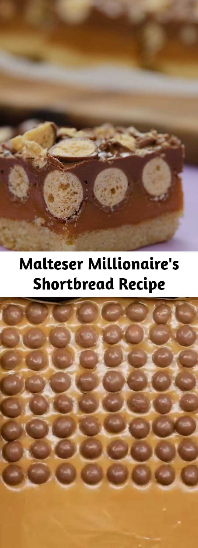 Malteser Millionaire's Shortbread Recipe - To all the Malteser fan out there, this is a next level Malteser Millionaire Shortbread!