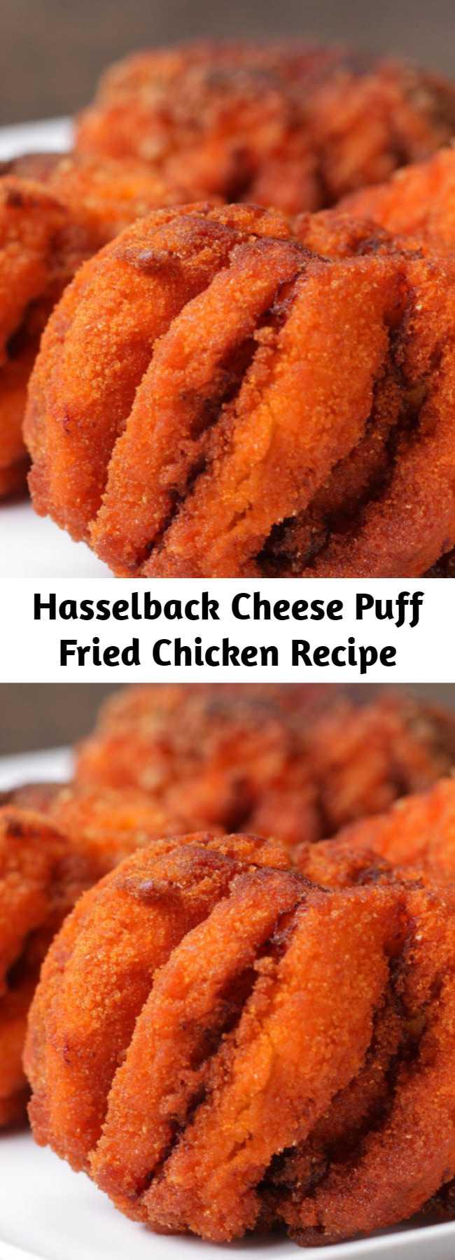 Hasselback Cheese Puff Fried Chicken Recipe